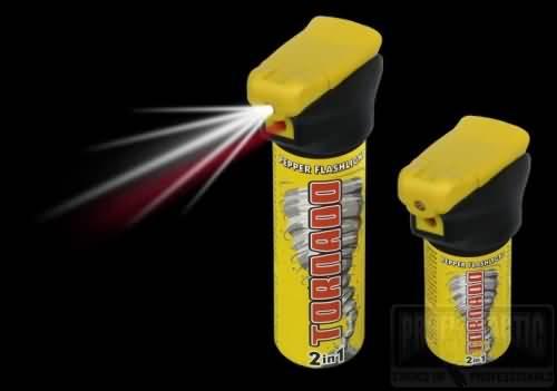 Obranný sprej Tornádo so svetlom 63ml 2