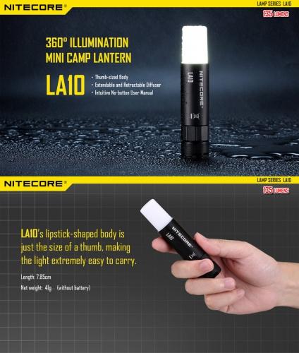 Mini lampa NITECORE LA10 2