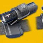 Rotačné plastové púzdro pre taktické baterky Helios 3 a Barracud 4