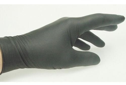 Jednorázové nitrilové  rukavice čierne 1