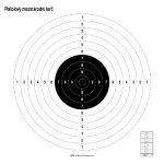 Medzinárodný pištoľový kruhový terč 1