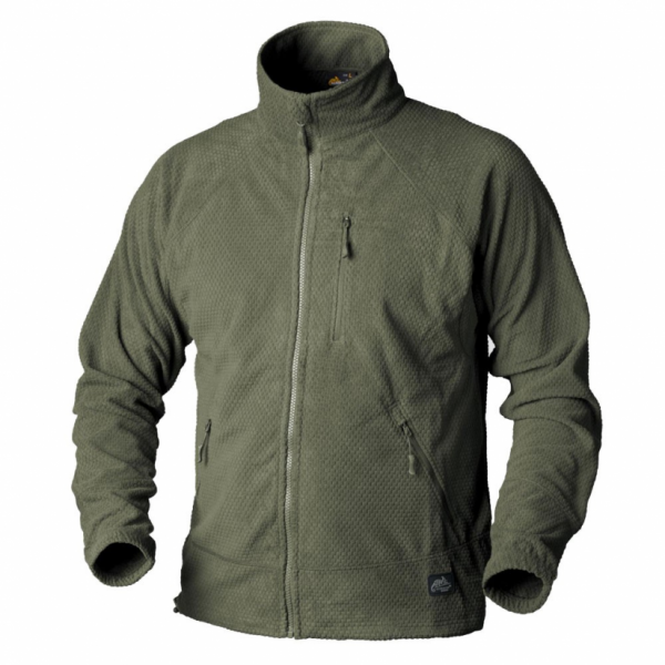 alpha-grid-fleece-jacket-olive-green